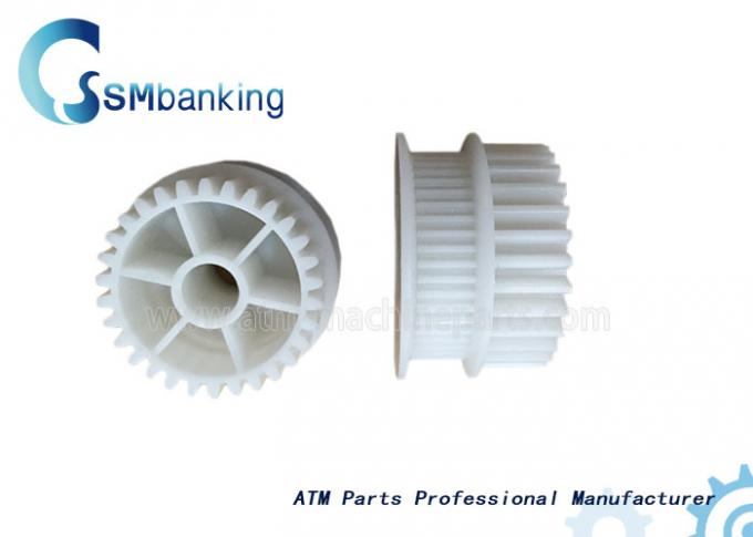 Durable Hitachi ATM Spare Parts Plastic White 48T Gear 4P008815-001