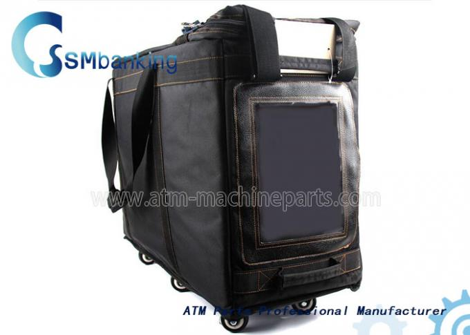 Automated Teller Machine Components Black Cassette Bag With Four Cassette